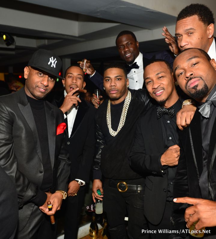 Alex Gidewon Ludacris Nelly Kevin Hart and Guests