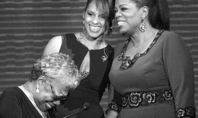 Oprah, Alicia Keys, and Maya Angelou