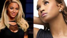 Beyonce and Chilli Split screen