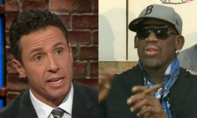 Dennis Rodman/Chris Cuomo SPlit Screen