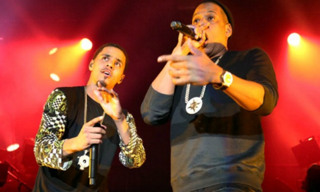 Jay z gives j cole an amazing birthday gift video 979 the beat j cole performs with jay z malvernweather Choice Image