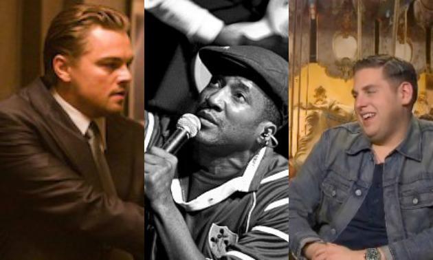 Leonardo DiCaprio, Q-Tip, Jonah Hill Split screen