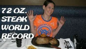 steak eating huge steak