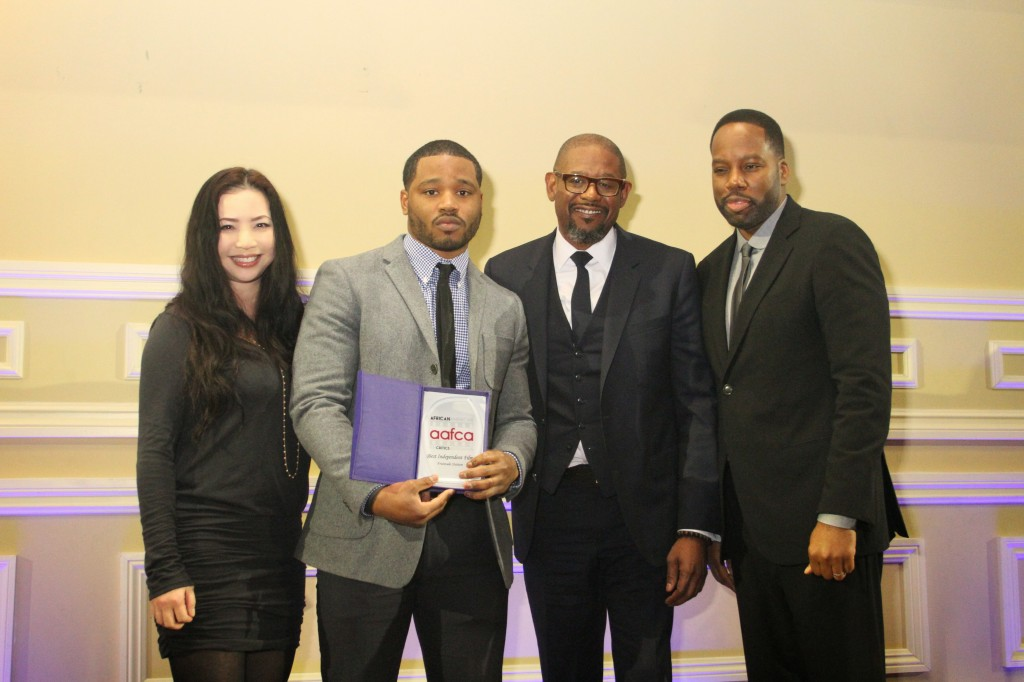 2014 AAFCA AWARDS - Nina Yang Bongiov, Ryan Coogler, Forest Whitaker and David Talbert