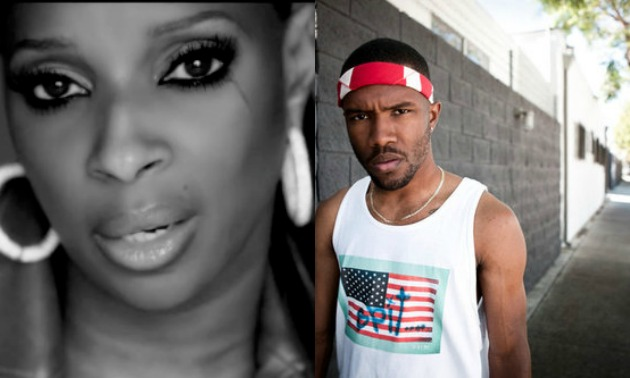 mary J. Blige /Frank Ocean Split screen