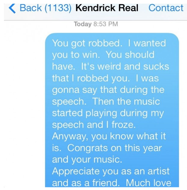 macklemore kendrick text