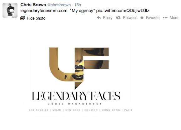 "Chris Brown Opens New Modeling Agency Called ""Legendary"