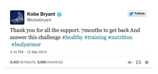 Kobe Bryant Tweet