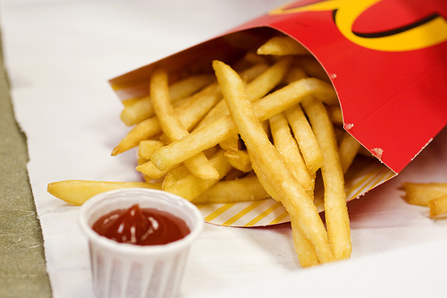 French fries on smash