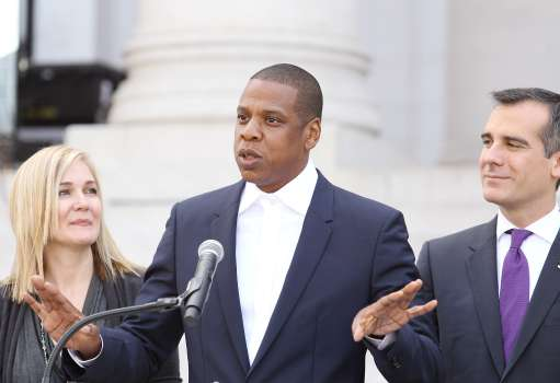 """Shawn """"Jay Z"""" Carter Makes Announcement On the Steps Of City Hall Downtown Los Angeles"""