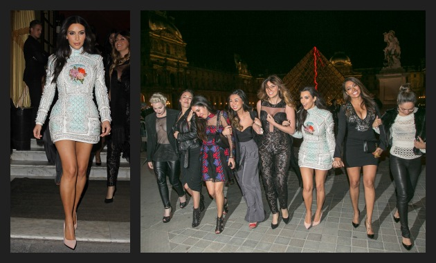 Kim K and Pals Paris