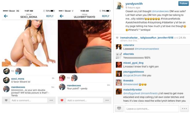 yandy smith instagram dm