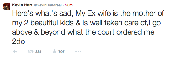 Kevin hart ex wife tweets