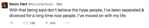 Kevin hart ex wife tweets
