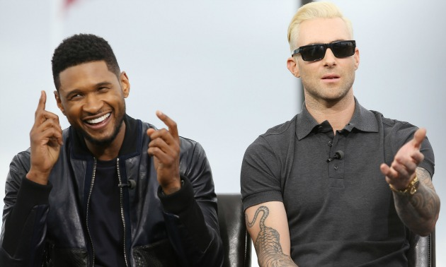 usher-adam-levine-getty