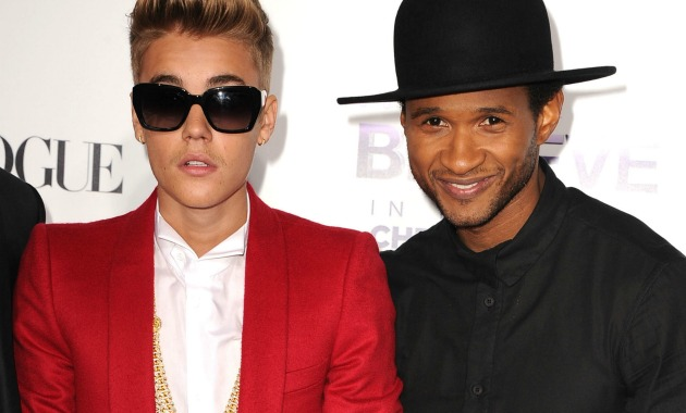 Bieber Usher Getty