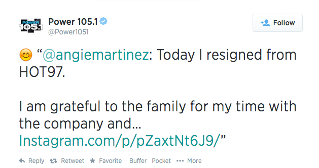 power 105.1 angie martinez retirement