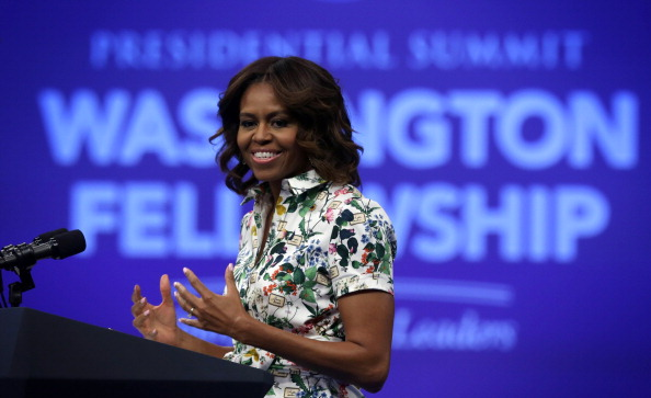 Michelle Obama Delivers Remarks At Summit For Young African Leaders