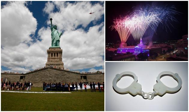 Liberty Freedom Handcuffs Getty