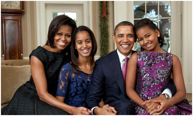 The Obama Family Getty