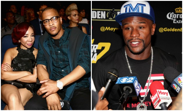 Tiny T.I. Floyd Mayweather Getty