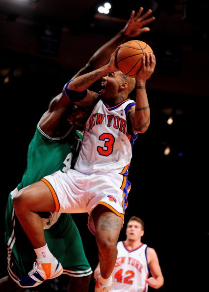 New York Knicks vs. Boston Celtics at Madison Square Garden.