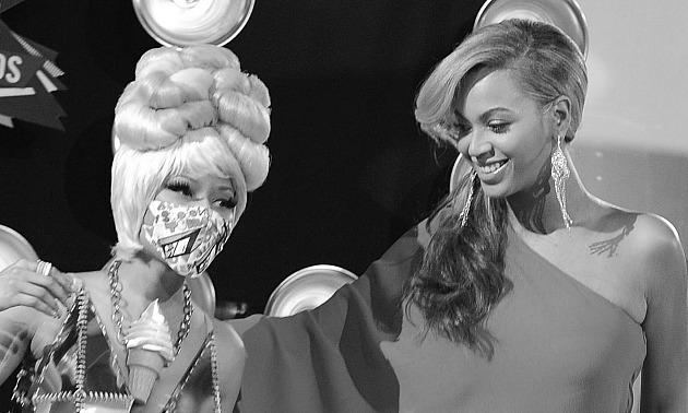Nicki Minaj Beyonce black and white Getty.jpg