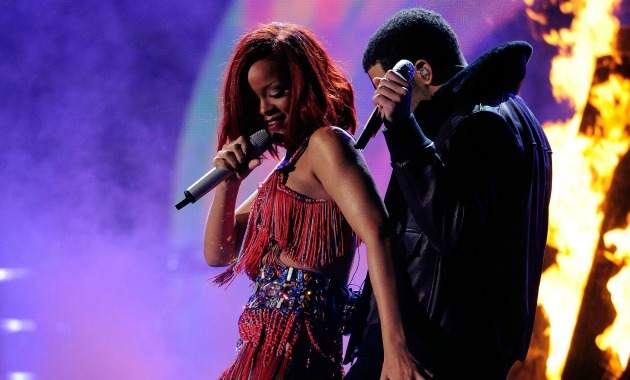 Rihanna Drake Getty