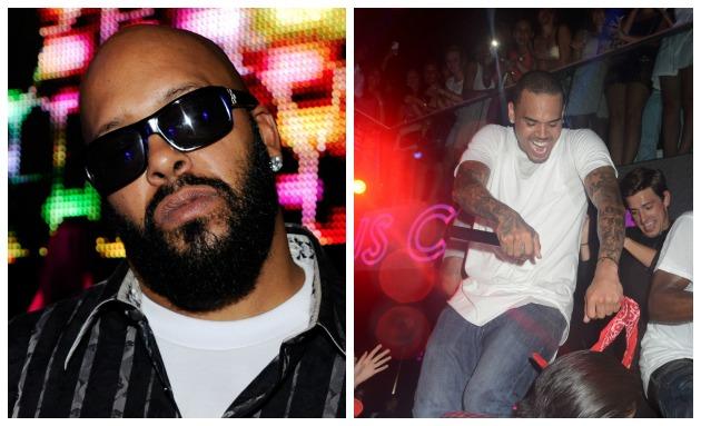 Shug Knight Chris Brown Getty