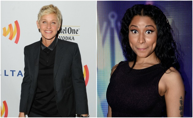 Ellen and Nicki Minaj Getty
