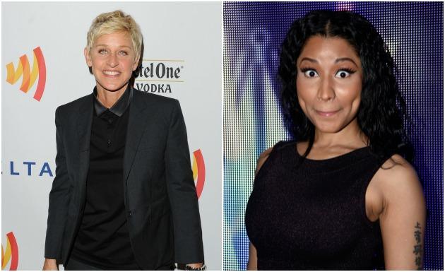 Ellen and Nicki Minaj Getty