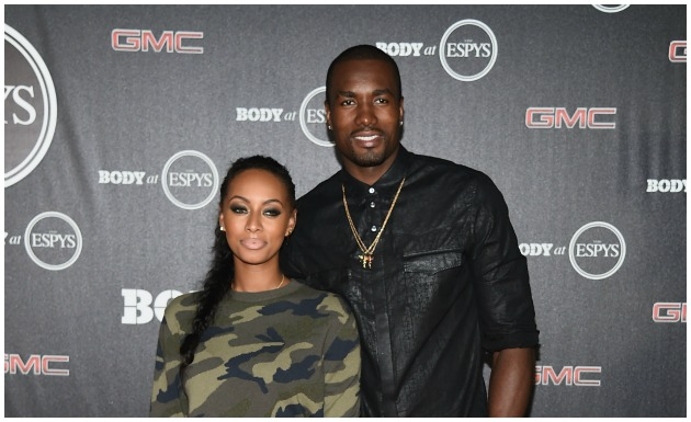 Keri Hilson and Serge Ibaka Getty