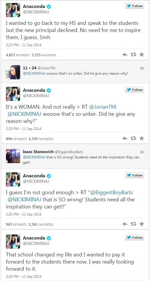 Nicki Minaj tweets