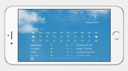 iphone 6 landscape view
