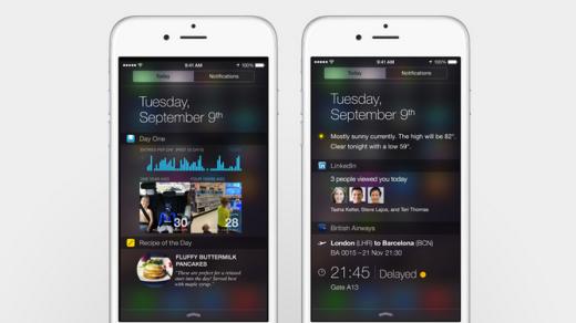 notification panel iphone