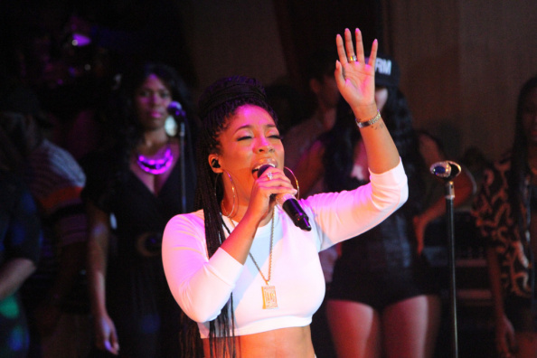 K Michelle Hosts Touch The Mike Tuesday