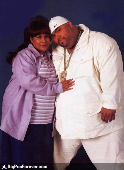 Big Pun and mother