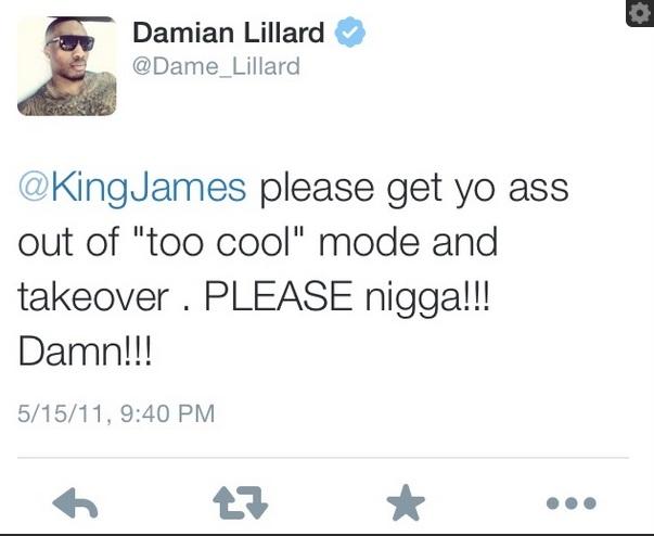 DLillard Tweet