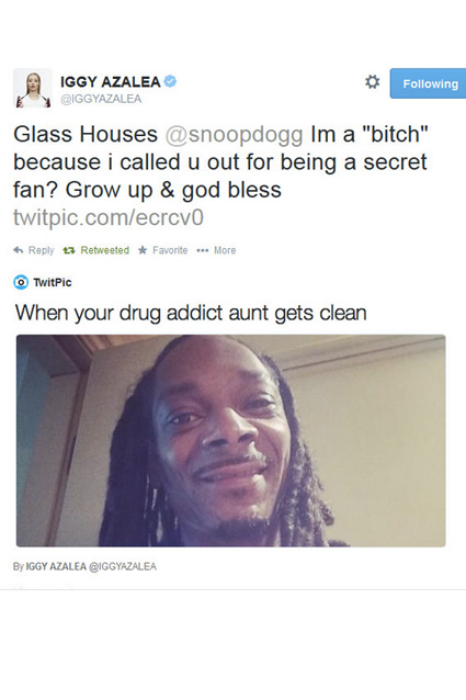 iggy snoop aunt tweet