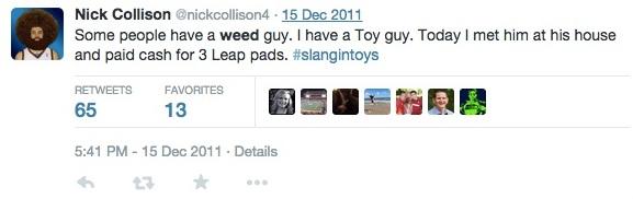 Nick Collison Tweet