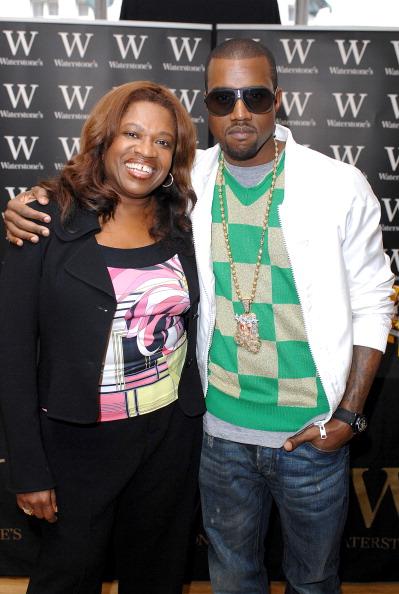 US hip-hop star Kanye West attending a b.