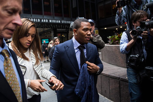 Suspended Baltimore Ravens Ray Rice Attends Appeals Hearing In New York