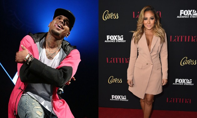 chris brown adrienne bailon