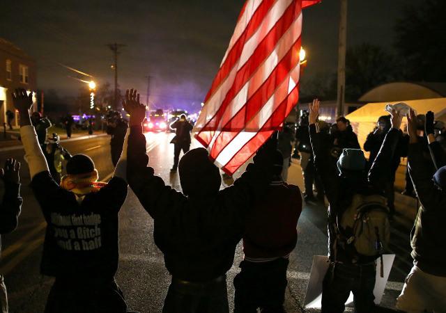 on November 24, 2014 in Ferguson, Missouri.