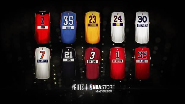 NBA Christmas Jerseys