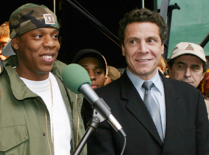 Jay Z and Andrew Cuomo