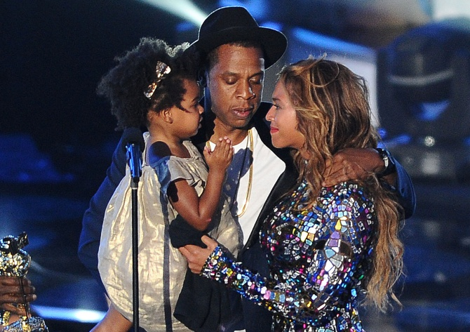 Jay Z, Beyonce, and Blue Ivy Carter