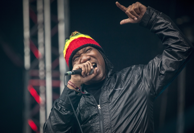 The American rapper KRS-One pictured live on stage at the German outdoor festival Splash Festival 2013. Germany 2013.