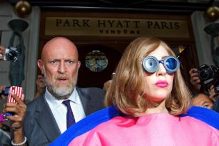 Lady Gaga Sighting In Paris - September 22, 2012
