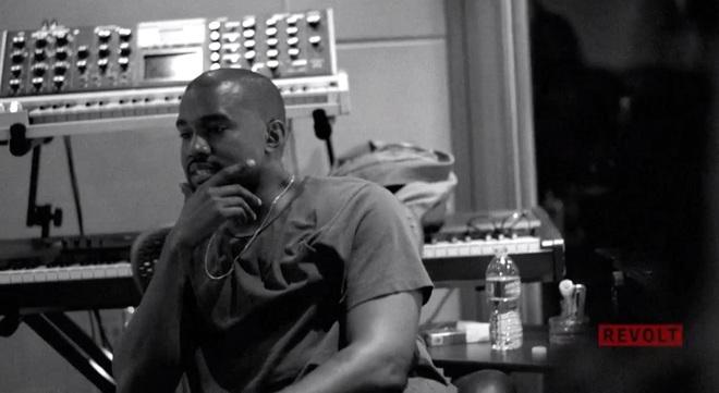 Kanye, Pusha T & Big Sean In Studio